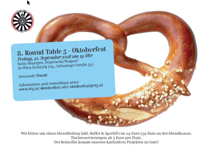 Wir laden zum achten RT5 Oktoberfest!